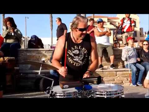 Huntington Beach Drum Circle 04-23-2017