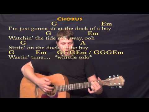Sitting on the Dock of The Bay - Strum Guitar Cover Lesson with Lyrics/Chords