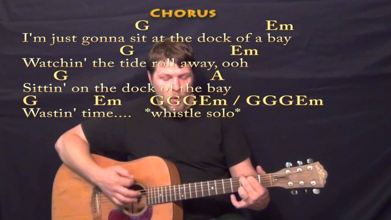 Sitting On The Dock Of The Bay Strum Guitar Cover Lesson With