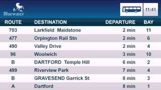 Bluewater Bus Station: Real time bus timetable