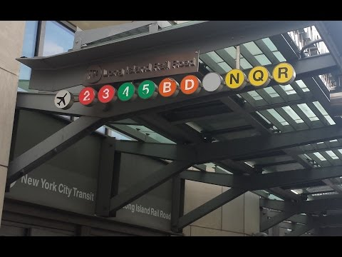 MTA NYC Subway: (2) (3) (4) (5) (B) (D) (N) (Q) (R) (W) Trains @ Atlantic Avenue-Barclays Center