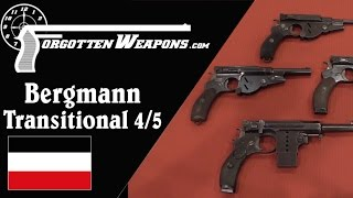 Bergmann Transitional No 4/5 Pistols