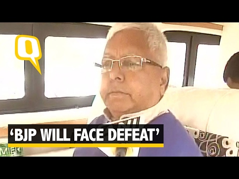 "The Quint: ""BJP Getting Wiped Out"" Says Lalu Prasad Yadav"