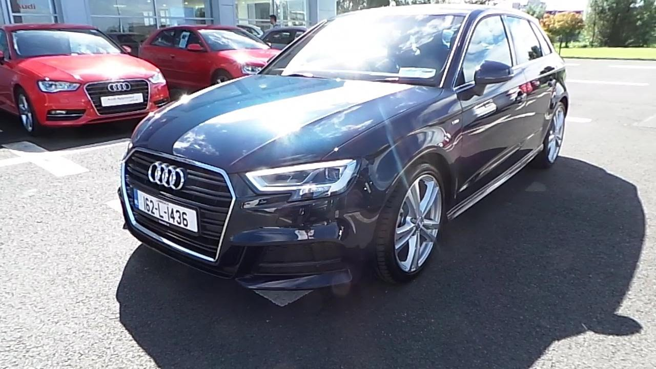 162l1436 2016 audi a3 sportback 1 6 tdi s line audi limerick 35 495 youtube. Black Bedroom Furniture Sets. Home Design Ideas