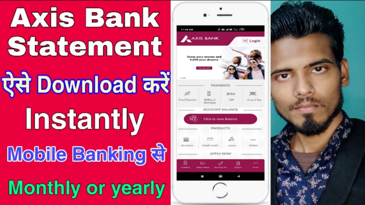 How To Download Online Axis Bank Statement How To Download Stant Bank Statement From Axis Bank Youtube