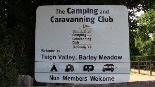 Teign Valley, Barley Meadow Camping and Caravanning Club Site Devon.
