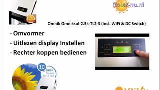 Omnik Omniksol-2.5k-TL2-S (incl. WiFi & DC Switch)