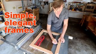 Picture frame BASICS. How to make a simple picture frame using a tablesaw.