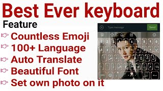 Best Ever keyboard with countless emojis, auto translate, 100+ language set own pic on it | facemoji screenshot 2