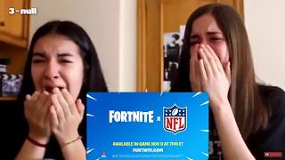 Girls react to the Fortnite x NFL Collab