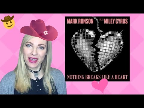 MILEY CYRUS MARK RONSON Nothing Breaks Like A Heart [Musician's] Reaction & Review!