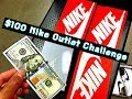 $100 NIKE OUTLET CHALLENGE! BEST KICKS UNDER ONE HUNDOOO