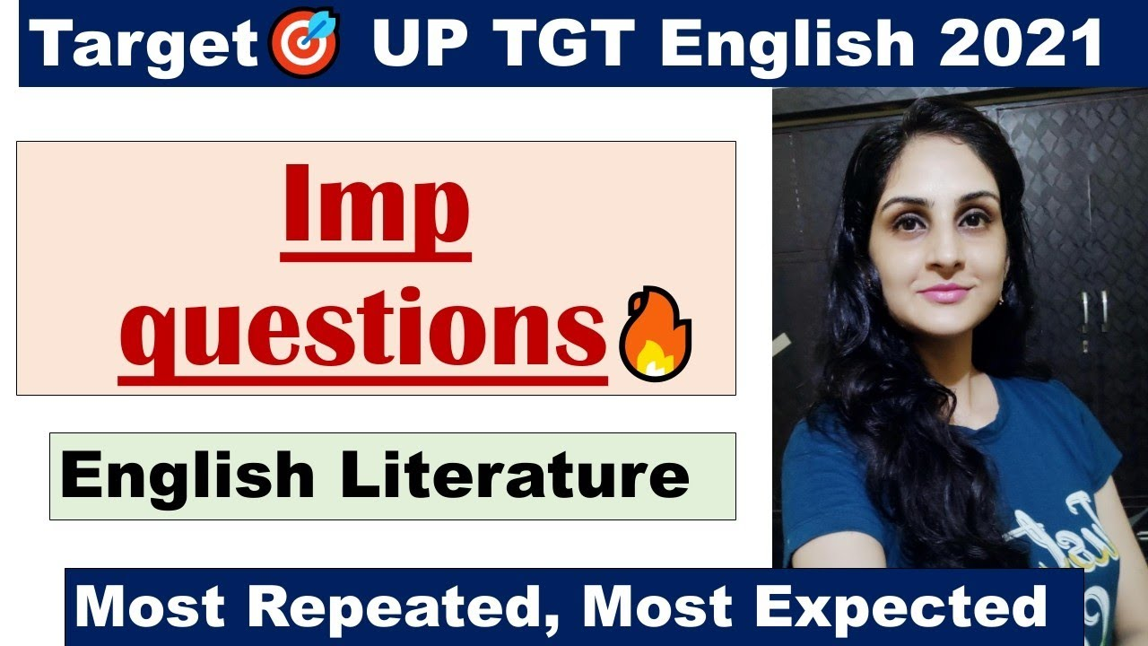Most important Question/UP TGT English🎯/English Literature📚