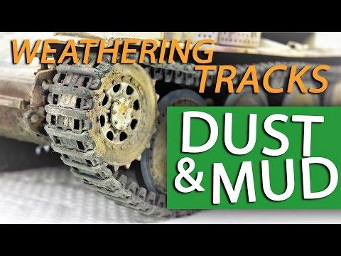 Tutorial: Painting & Weathering Tracks for Model Tanks - DUST & MUD for Model Tanks