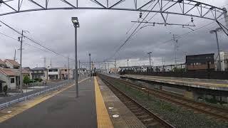 EF65牽引シキ800形(上り)相見駅通過  遅延貨物列車上り2本目