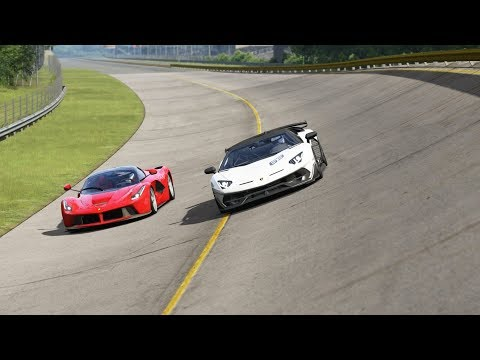 Lamborghini SVJ 63 vs Ferrari LaFerrari at Monza Full Course 1966