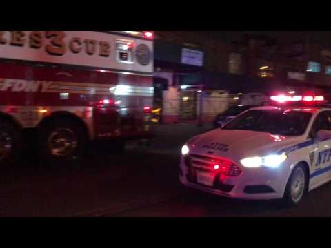 NYPD CRUISER RESPONDING URGENTLY ON JEROME AVENUE IN NORWOOD AREA OF THE BRONX IN NEW YORK CITY.