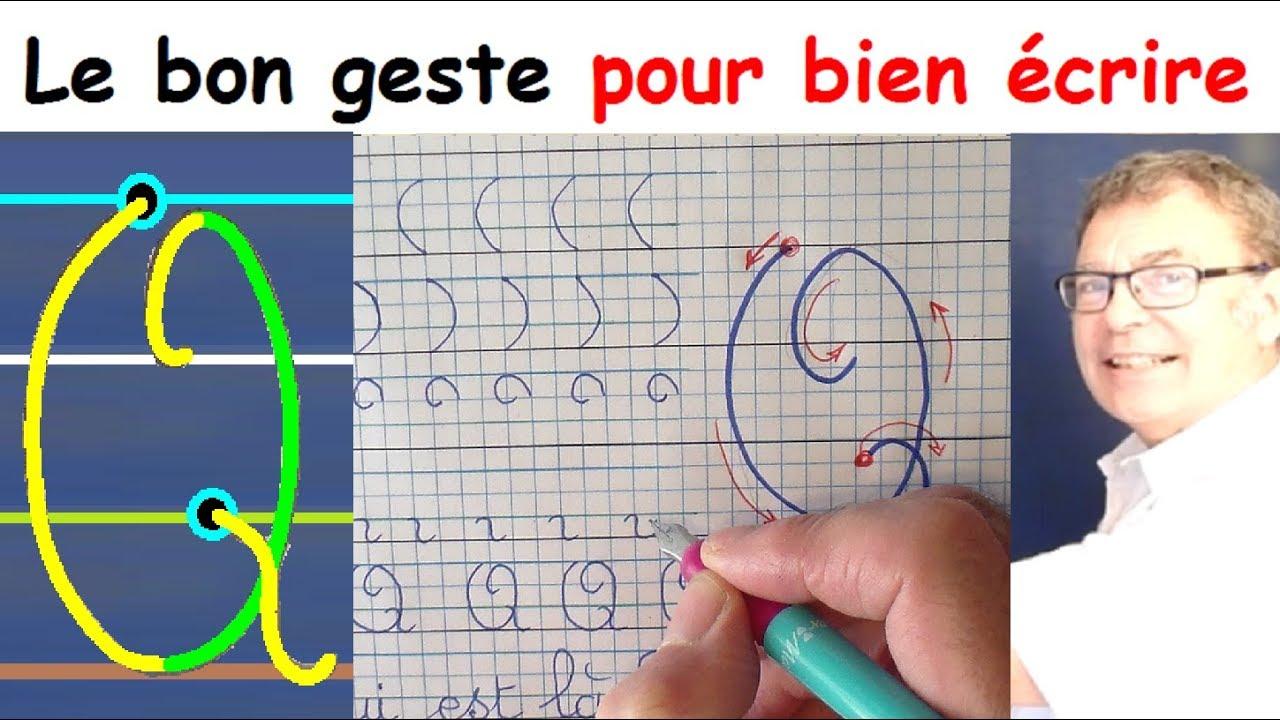 Ecriture Cursive Français Au Cp Ce1 Ce2 La Lettre Majuscule Q