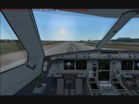 FS9 - CLS Airbus A340-500 Flight from CYWG to EGLL