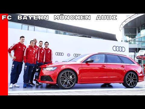 FC Bayern München Receives New Audi Models Including Audi RS6, Avant, SQ7 TDI, SQ5