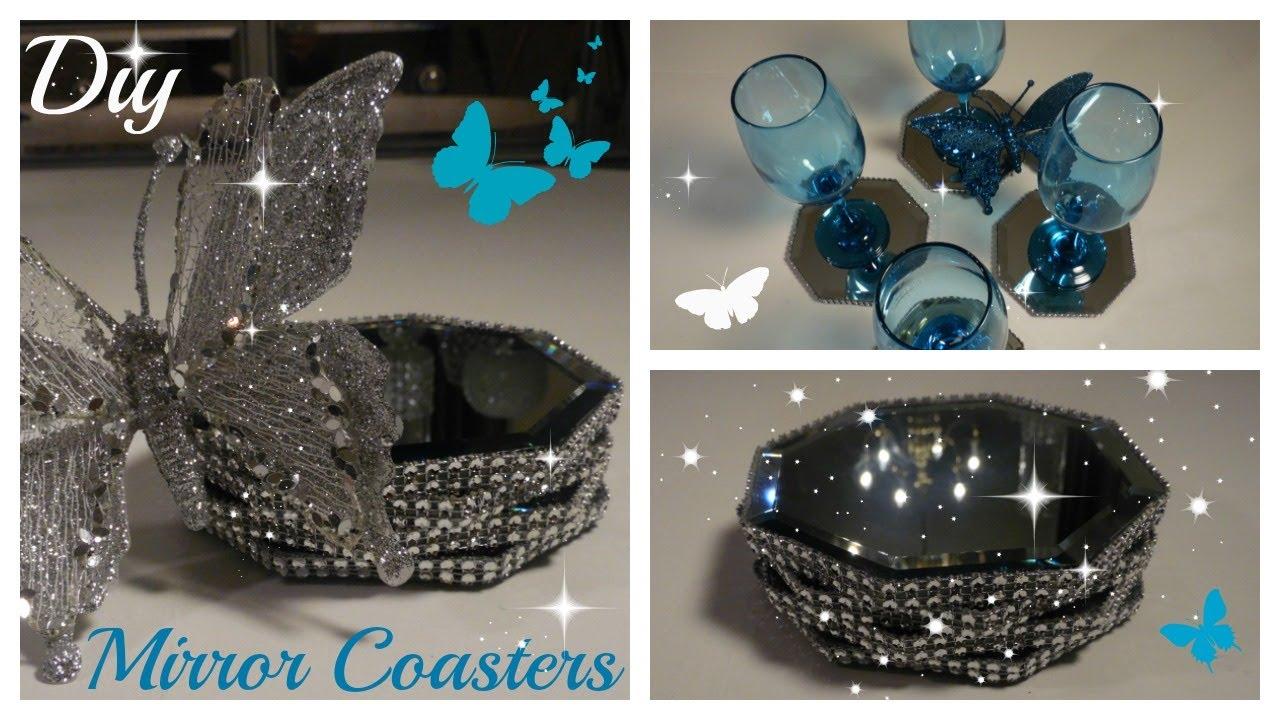 Bling Diy Mirror Coasters Wedding Home Decor