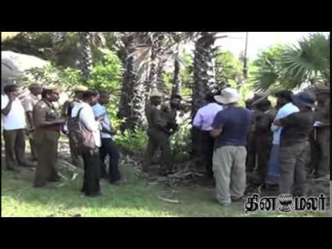 Collector in Villupuram Inspect Cheetah Place - Dinamalar August 13th 2014 News
