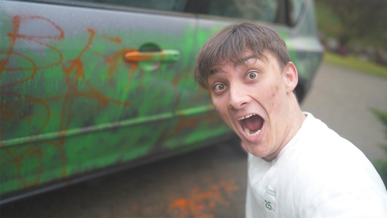 HAN BLEV IKKE GLAD FOR DETTE (Ødelægger hans bil prank)