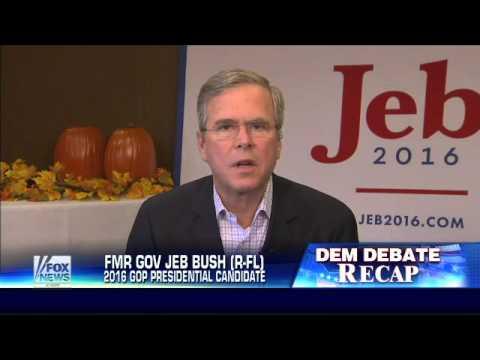 Jeb Bush: Democratic candidates battling to go further left