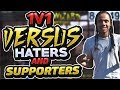 NBA 2K17 - 1v1 Against Haters & Supporters!!