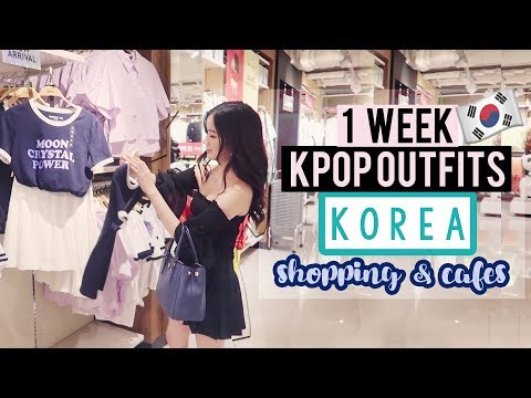 SEOUL - Cafes & Shopping | Wearing KPOP Outfits In KOREA For A WEEK
