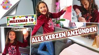 GEFÄHRLICH! ALLE KERZEN ALLEINE anzünden - Adventskalender Milexmas 10 - Mileys Welt