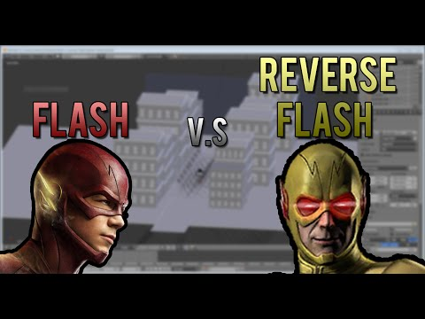 3D Animation of The Flash and Reverse Flash Chase.