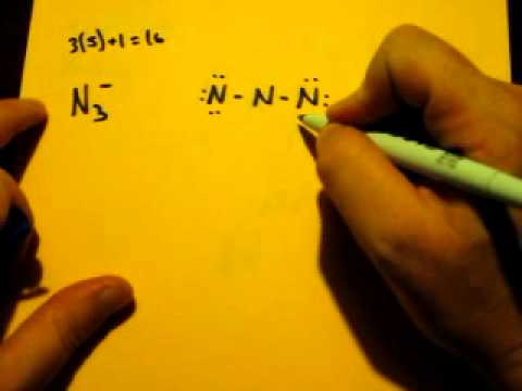Lewis Dot Structure of N3 (Azide Ion)  YouTube