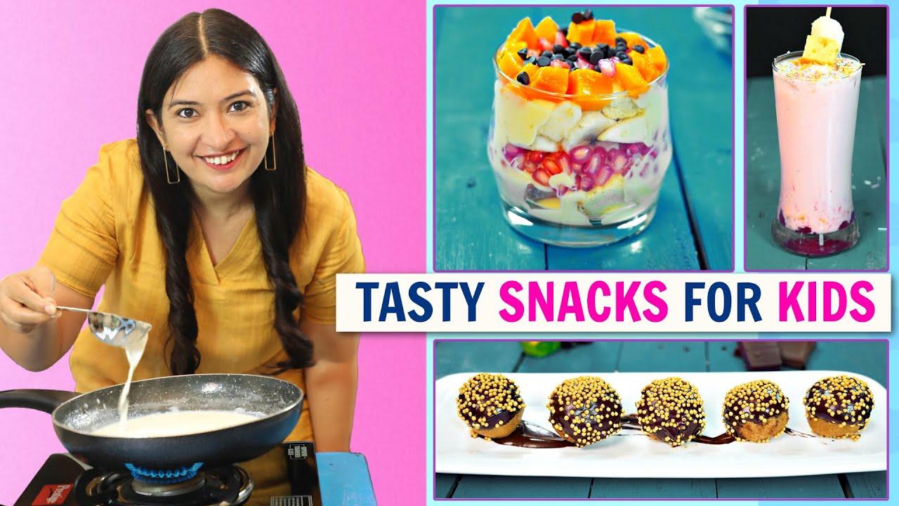 3 YUMMY Kids SNACKS Recipe l Easy Breakfast | CookWithNisha