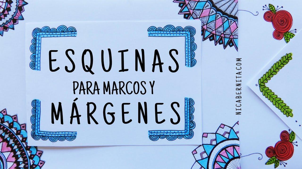 Esquinas Para Marcos Y Márgenes Para Cuadernos O Cartas Márgenes Bonitos Con Mandalas