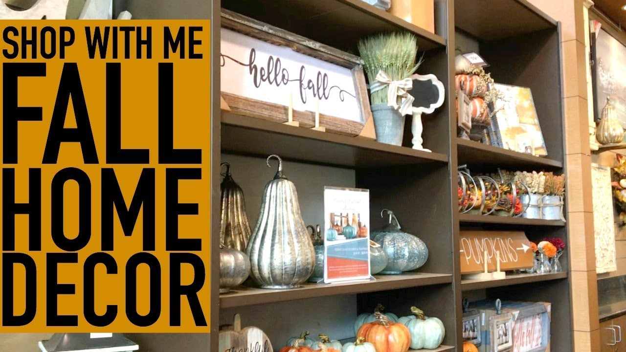 SHOP WITH ME FOR FALL HOME DECOR KIRKLANDS DOLLAR TREE FALL