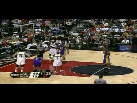 Kobe Bryant 2002-03: 36 points 7 assists vs Blazers