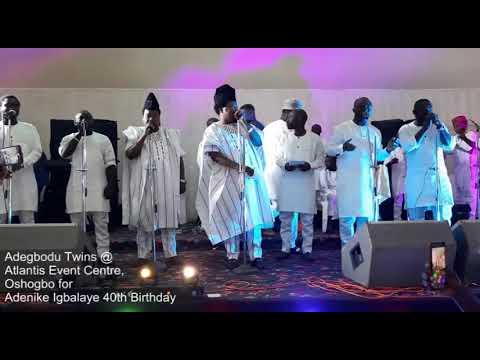 Download Adegbodu twins @atlantis civic centre Osogbo for ADENIKE IGBALAYE 40th birthday celebration