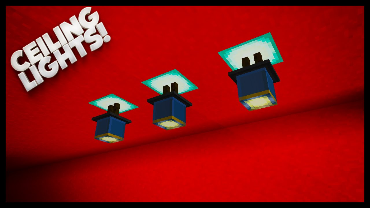 Minecraft how to make nice lighting ceiling lights youtube mozeypictures Images