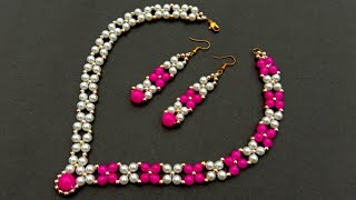 How To Make Necklace//Wedding Necklace//  & Easy