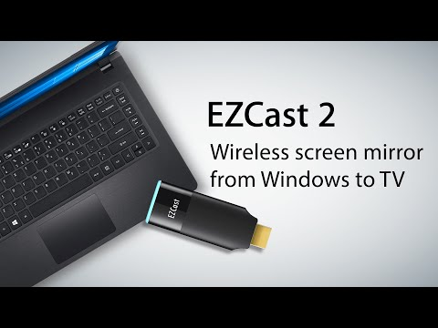 Wireless screen mirroring from Windows laptop to TV