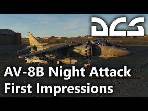 DCS World - AV-8B Night Attack Harrier II - First Impressions