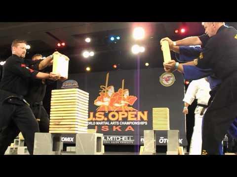 US Open 2013 – ISKA Three Directional Wood Breaking – Drew Serrano