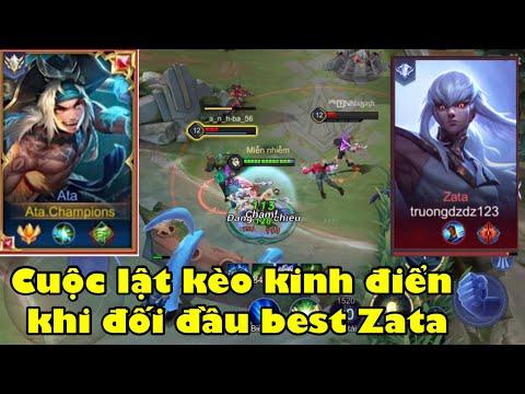 Top 1 Ata | Hướng dẫn cách chơi Ata khi Team bị thọt đối đầu với best Zata | Liên Quân Mobile