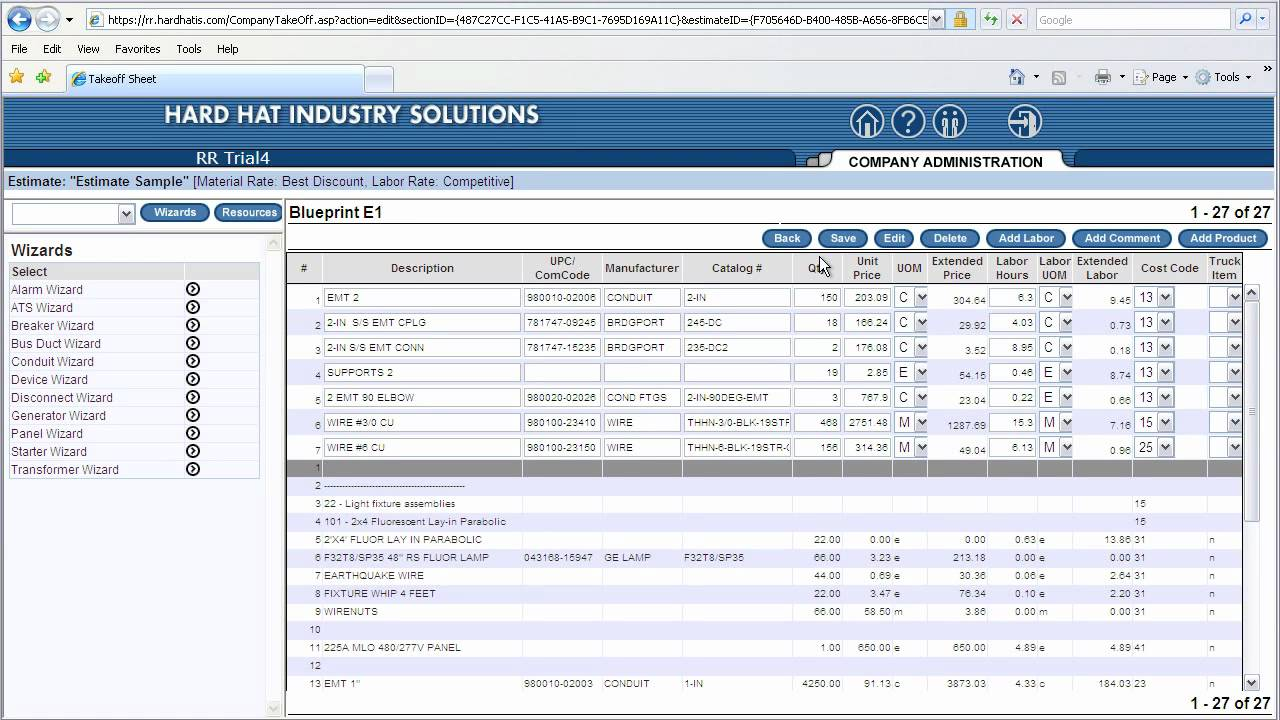 Electrical Estimating Software Product Demonstration - YouTube
