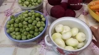 Свекольная икра с зелеными помидорами.Комната девочек.Даша готовит ужин.
