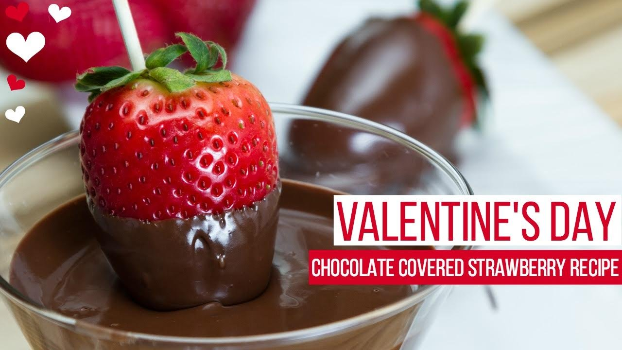 Valentine S Day Chocolate Covered Strawberry Recipe Natalie Jill