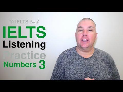 IELTS Listening Practice Numbers 3