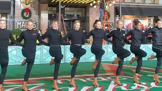 Rockettes rehearse for the Macy's Parade