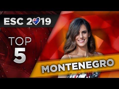 Top 5 - Montenegro Eurovision 2019 (Montevizija)